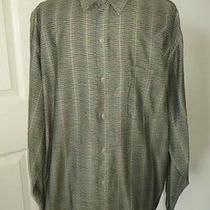 Jhane Barnes Storm Geometric Pattern  L/s Shirt  Men's L  Photo