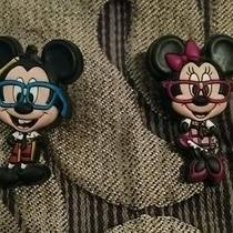 Jibbitz Disney Nerd Mickey and Minnie  Croc Shoe Charms Photo