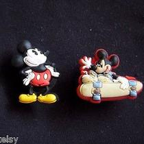 Jibbitz - Set of 2 - Mickey Mouse Charms for Crocs Shoes or Wristband Photo