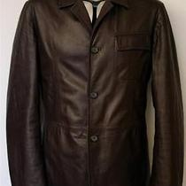 Jil Sander Leather Reversible Jacket Eu50 Medium / Large Rrp1970 Blazer Brown Photo