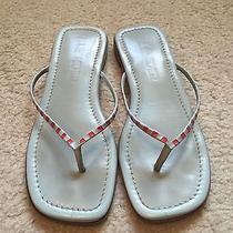 Jil Sander Light Blue Leather Flip Flop Sandals Women's Size 7 Photo