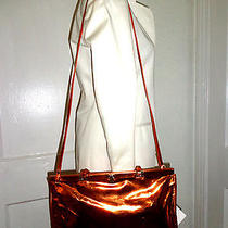 Jil Sander Metallic Copper New Convertible Metal-Hinged Handbag Bag Purse Nwt Photo