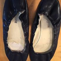 Jil Sander Navy Blue Leather Ballet Flats Size 8 or 8 1/2 Photo