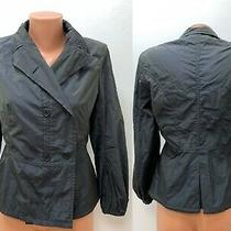 Jil Sander Size 38 Jacket Blazer Grey - Blue - Brown Metallic Peplum Photo