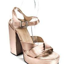 Jil Sander Womens Satin Ankle Strap Platform Sandals Blush Pink Size 36 6 Ll19ll Photo