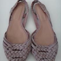 Jill Stuart Blush Pink Suede Braided Flat Sandals. Size 9 Photo