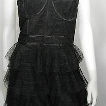 Jill Stuart Cocktail Prom Dress 12 Black Lace Corset Nwt Photo