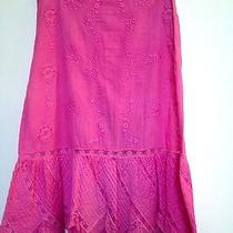 Jill Stuart Pink Embroidered Skirt With Lace Size S Photo