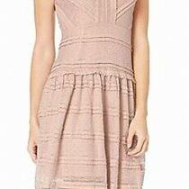 Jillian Jordan Women Dress Light Blush Pink Size 8 Sheath Ruffled Trim 135- 155 Photo
