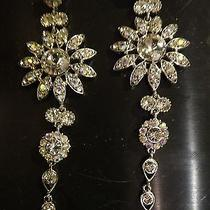 Jim Ball Long Swarovski Crystal Earrings 5