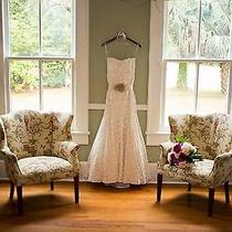 Jim Hjelm by Hayley Paige Blush Fitted Lace Wedding Dress 1057 Photo