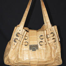 Jimmy Choo 14000 Sand Beige Crocodile Skin Ramona Tote Bag Photo