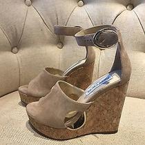 Jimmy Choo 35 Wedge Nude Suede Size 35  Photo