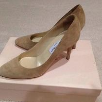 Jimmy Choo Beige Suede Leather Round Toe Pump Beige 38 Photo