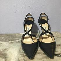 Jimmy Choo Black Leather Romy Pump Size 38 1/2 Authentic- 650 Photo