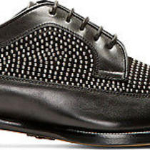 Jimmy Choo Black & Silver Studded Mens Low-Top Leather  Derby  Shoes Photo