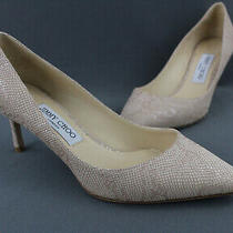 Jimmy Choo Blush Beige Lizard Heels Pumps Size 38 8 Photo