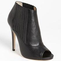 Jimmy Choo Bolt Black Calf Leather Peep Toe Booties Boot Shoes Size 37.5 995 Photo