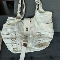 Jimmy Choo Bree White Napa Leather Hobo Bag Photo