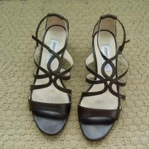 Jimmy Choo Brown Leather Sandal   Size 6m or Euro 36 Photo