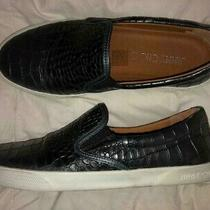 Jimmy Choo Croc Embossed Slip-on Leather Sneakers Size 37.5 Worn once.excellent Photo