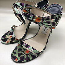 Jimmy Choo High Heels Multi-Colored Ankle Strap Size 7-1/2 Us 38 Eu Photo