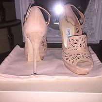 Jimmy Choo Kalan Perforated Suede Blush Pumps Size 6 Photo