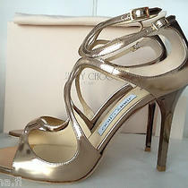Jimmy Choo Lang Mirror Nude/rose Gold Leather Sandals 36.5 Nib Wedding Shoes Photo