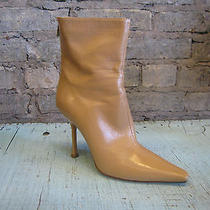 Jimmy Choo Leather Ankle Bootie Heel Boot Stiletto Sz 37.5 Us 7.5 Photo