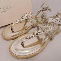 Jimmy Choo Leather Sandals Shoes Flats Uk6 /eu39 -Great Gift Photo