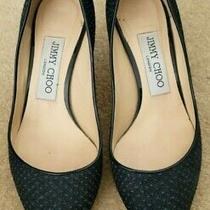 Jimmy Choo Navy Blue High Heels Shoes. Size 35.5. Excellent Condition Photo