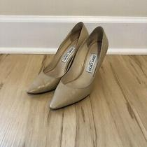 Jimmy Choo Romy 85 Nude Leather Pumps Size 38.5 8.5 8 Photo