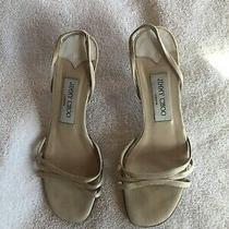 Jimmy Choo Shoes 36.5 Soft Beige Sandals Photo