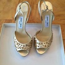 Jimmy Choo Shoes Gold Photo