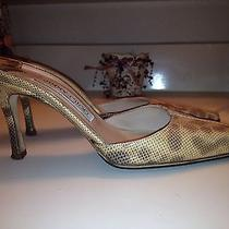 Jimmy Choo Snakeskin Leather Heels Shoes Sz 7 Photo