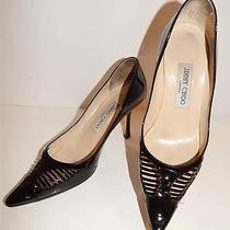 Jimmy Choo Sz 36 Black Patent Leather Pumps Shoes Italy Photo