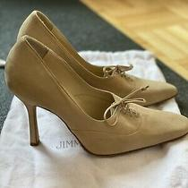 Jimmy Choo Tan Suede Tie Up Pumps Size 37 - Brand New Photo