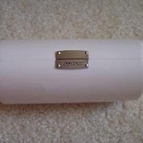 Jimmy Choo White Clam Shell  Hinged Eyeglass Case Photo