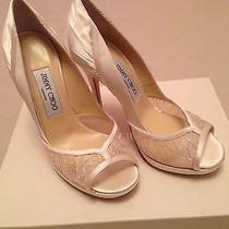 Jimmy Choo White Lace Wedding Shoes 6.5/36.5 Photo