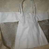Jimmy Choo Women's White and Gold Handbag / Totebag. New. Photo