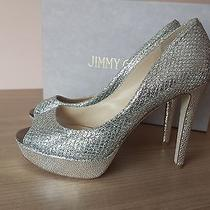 Jimmychoo Heels New Wedding Evening Shoes With Box Photo