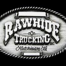 Jk29144 Vintage 1996 Rawhide Trucking Inc. Hutchinson Kansas Buckle Photo
