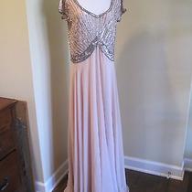 Jkara Long Gown Blush Sequin Dress Formal Party Gala Wedding Women's 16 Photo