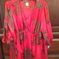 Jms 2x 18x 20x Blouse Red Black Sleeve Elements Used Just My Size Baby Doll Photo