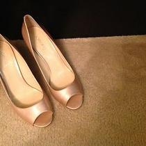 Joan & David 2 - Classic and Sexy Peep Toe Blush Color Patent Pumps Size 10. Photo