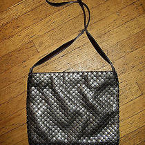 Joan & David Chain Mail Bag Purse Italy Leather Strap Thrones Lined Medium-Size Photo