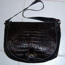 Joan & David Vtg Leather Hobo Shoulder Crossbody Handbag Purse Bag-Brown-Italy Photo
