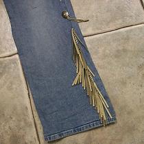 Joe Boxer Fringe Concho Jeans Size 11 Rare Southwestern Euc Unique Western Photo