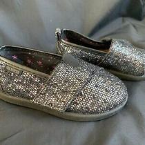 Joe Boxer Toddler Girl's Black Glitter Toms Style Size 6 Photo