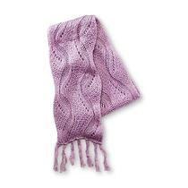 Joe Boxer  Women's Acrylic Knit Fringe Scarf  Lavender Blush Nwt  Photo